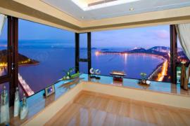 世紀都市雙水灣_珠海 1分鐘到港珠澳大橋關口 與香港一橋之隔 海濱公園長廊 (實景航拍)