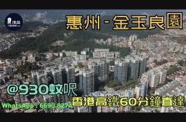 金玉良園_惠州 首期3萬(減) @930蚊呎 香港高鐵60分鐘直達 香港銀行按揭(實景航拍)